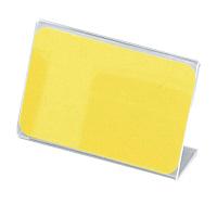 アクリル製 カード立 片面用(L型) 34-3013 1箱(10個入×2袋) (取寄品) ササガワ