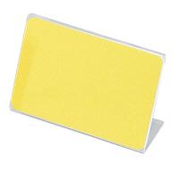 アクリル製 カード立 片面用(L型) 34-3015 1箱(10個入×2袋) (取寄品) ササガワ