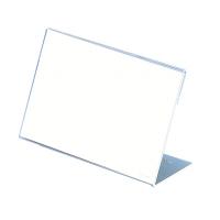 アクリル製 カード立 片面用(L型) 34-3565 1箱(5個入×2袋) (取寄品) ササガワ