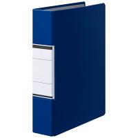 アスクル パイプ式ファイル(両開き) A4タテ とじ厚50mm ユーロスタイル ブルー
