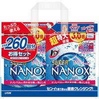 トップ スーパーNANOX(ナノックス) 詰め替え 超特大 1300g 2個パック ライオン