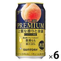 サントリー こくしぼり 豊潤もも 350ml 6缶