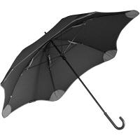 【在庫一掃セール】ブラント ライトプラス(セカンドジェネレーション)カーブハンドル 長傘 手開き 日傘/晴雨兼用 ブラック 6本骨 58cm A1446-10