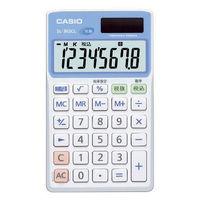カシオ計算機 CASIO 抗菌電卓 8桁表示 手帳タイプ SL-302CL-N 1個