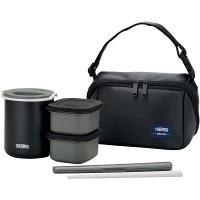 サーモス 保温弁当箱 約0.8合(茶碗1.8杯) マットブラック DBQ-362MTBK