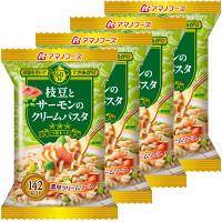 枝豆とサーモンのクリームパスタ4食