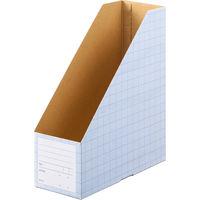 ボックスファイル A4タテ 10冊 ダンボール製 ブルー アスクル