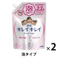 キレイキレイ 薬用泡ハンドソープ シトラスフルーティの香り 詰替450ml 1セット(2個) 【泡タイプ】 ライオン