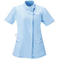 アイトス 医療白衣 ナースジャケット アシンメトリーカラーチュニック 861115 サックス L