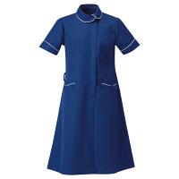 アイトス 医療白衣 ナースワンピース アシンメトリーカラーワンピース 861114 ネイビー L