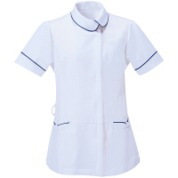 アイトス 医療白衣 ナースジャケット アシンメトリーカラーチュニック 861115 ホワイト M