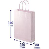 丸紐 手提げ紙袋 ローズ L 30枚
