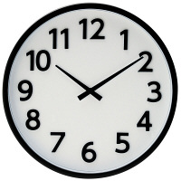 ladonna(ラドンナ) ウォールクロック [電波 掛け 時計] ブラック DT01-BK 1個 (取寄品)