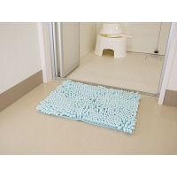 プレミアムSUSU ふわモコセレブバスマットS 36×50cm アクアマリン (取寄品)