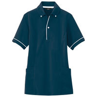 アイトス 介護ユニフォーム サイドポケットポロ 半袖ポロシャツ ネイビー LL AZ7668-008