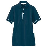 アイトス 介護ユニフォーム サイドポケットポロ 半袖ポロシャツ ネイビー S AZ7668-008