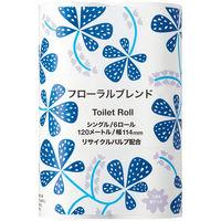 アスクル 2倍巻 トイレットペーパー 6ロール 再生紙配合 シングル 120m フローラルの香り オリジナルトイレットロールフローラルブレンド 1パック(6ロール)