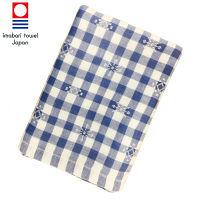 【在庫一掃セール】今治タオル たおる本舗 季(とき) チェック バスタオル ブルー 1枚 約60×120cm 丸眞
