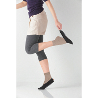徳武産業 靴下カバー あしさぽ ブラック L 4501 1セット(3足入り)