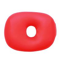 MOGU 体にフィットする穴あき枕 ビーズクッション 赤 744274 1個
