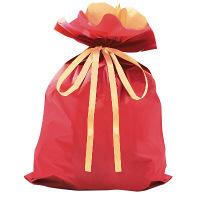 タカ印 巾着袋 レッド 特大 1P 50-4659 1セット(5枚入り) (取寄品)