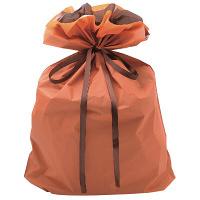 タカ印 巾着袋 オレンジ 特大 1P 50-4663 1セット(5枚入り) (取寄品)