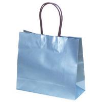 ササガワ 手提げバッグ ブルー ストレート小 50-6341 1セット(20枚入) (取寄品)