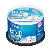 日立マクセル 録画用BDR スピンドル ひろびろ美白レーベル BRV25WPE.50SP 1パック(50枚入)