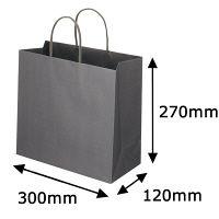 レザートーン手提袋 丸紐 クールグレー L 1セット(50枚:10枚入×5袋) スーパーバッグ