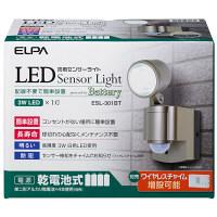 朝日電器 電池3WLEDセンサーライト1灯 ESL-301BT (取寄品)