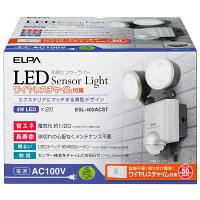 朝日電器 LEDセンサーライト 2灯 チャイム ESL-402ACST (取寄品)