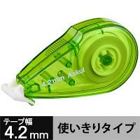 修正テープ ビビッドカラー 幅4.2mm×8m グリーン アスクル