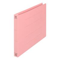 プラス フラットファイル厚とじ A4ヨコ 100冊 ピンク No.022NW 樹脂製とじ具
