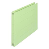 プラス フラットファイル厚とじ A4ヨコ 100冊 グリーン No.022NW 樹脂製とじ具