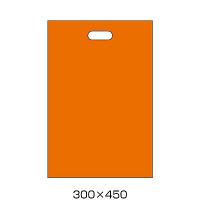 手提げポリ袋 オレンジ L 500枚