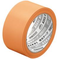 アスクル 「現場のチカラ」 養生テープ オレンジ 幅50mm×25m巻