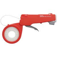 小型結束機 しめしめ オレンジ 45-2 CSO-15N 1セット(本体1台・ベルト1巻・クリップ100個) 仁礼工業