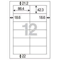 アスクル 下地が透けないラベル 12面MA-507SKT 56223 1袋(100シート入)