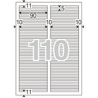 アスクル 下地が透けないラベル 110面MA-528SK 56220 1袋(20シート入)