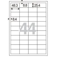 アスクル 下地が透けないラベル 44面MA-514SKT 56227 1袋(100シート入)
