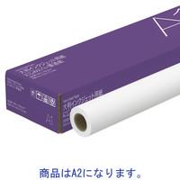 アスクル にじみにくい普通紙 A2 50m巻 1箱(2本入)
