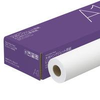 アスクル にじみにくい普通紙 A1 100m巻 1箱(2本入)