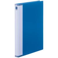 クリヤーブック 差し替え式 30穴 A4タテ 15ポケット 背幅2.5cm ブルー アスクル