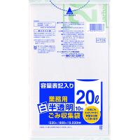 日本サニパック 白半透明 ゴミ収集袋20L10P LL厚口 HT28 1箱(600枚)