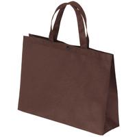 サンナップ ボタンどめ不織布ライトバッグ横タイプ 小A4横 幅320×高さ240×マチ幅90mm 1袋(10枚入)【不織布手提げ袋】