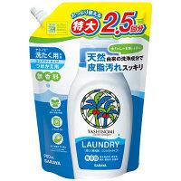 ヤシノミ洗濯用液体洗剤コンパクトタイプ 無香料 詰め替え用特大 900mL 1セット(3個) サラヤ