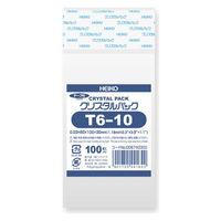 HEIKO クリスタルパック T T 6-10 横60×縦100+フタ30mm 6740300 1袋(100枚入) シモジマ