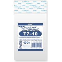 HEIKO クリスタルパック T T 7-10 横70×縦100+フタ30mm 6740400 1袋(100枚入) シモジマ