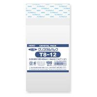 HEIKO クリスタルパック T T 8-12 横80×縦120+フタ40mm 6740500 1袋(100枚入) シモジマ