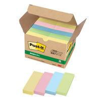 ポストイット 付箋 ふせん 通常粘着 75×25mm パステルカラー4色セット 1箱(100冊入) スリーエム 5005-K オリジナル